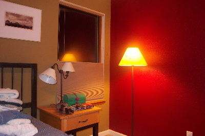 painted red new mirror new blinds new color furniture position